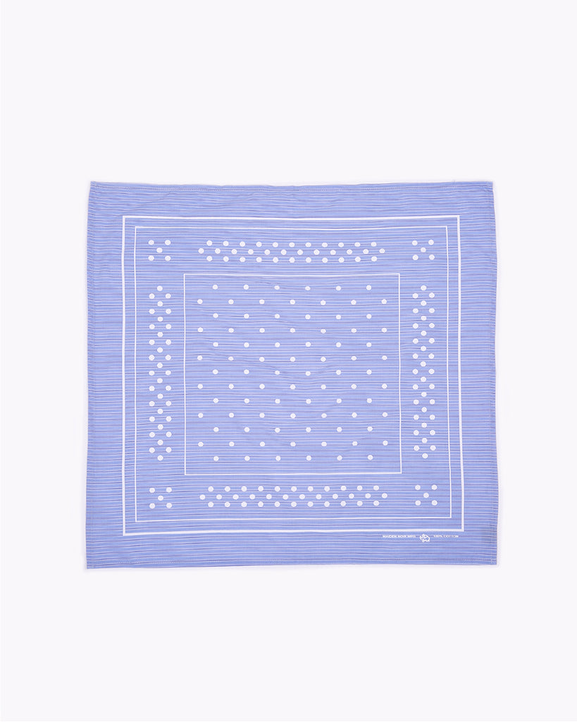 Patterned Bandana - Blue Stripe