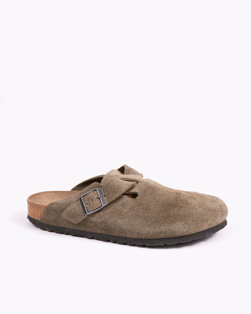 Birkenstock Boston Clog - Tan Suede
