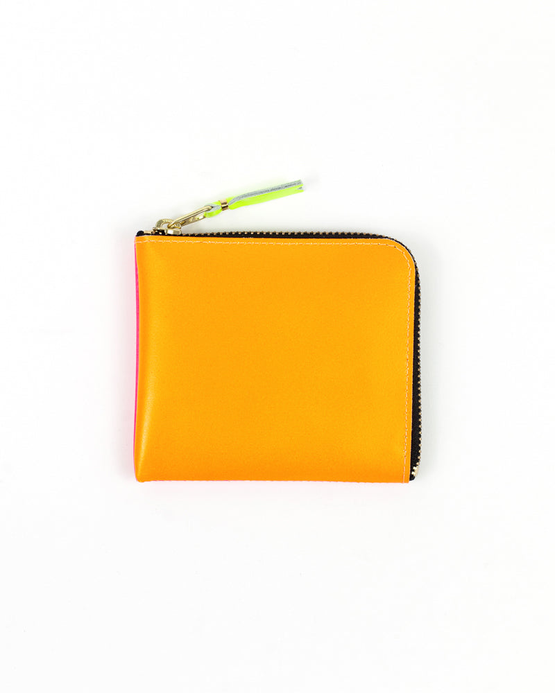Super Fluo Zip Wallet - Orange/Pink - Maiden Noir