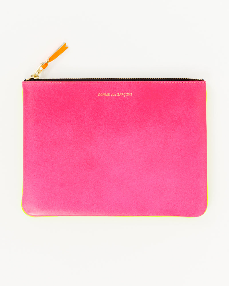 Super Fluo Large Zip Pouch - Pink/Yellow - [product _vendor]