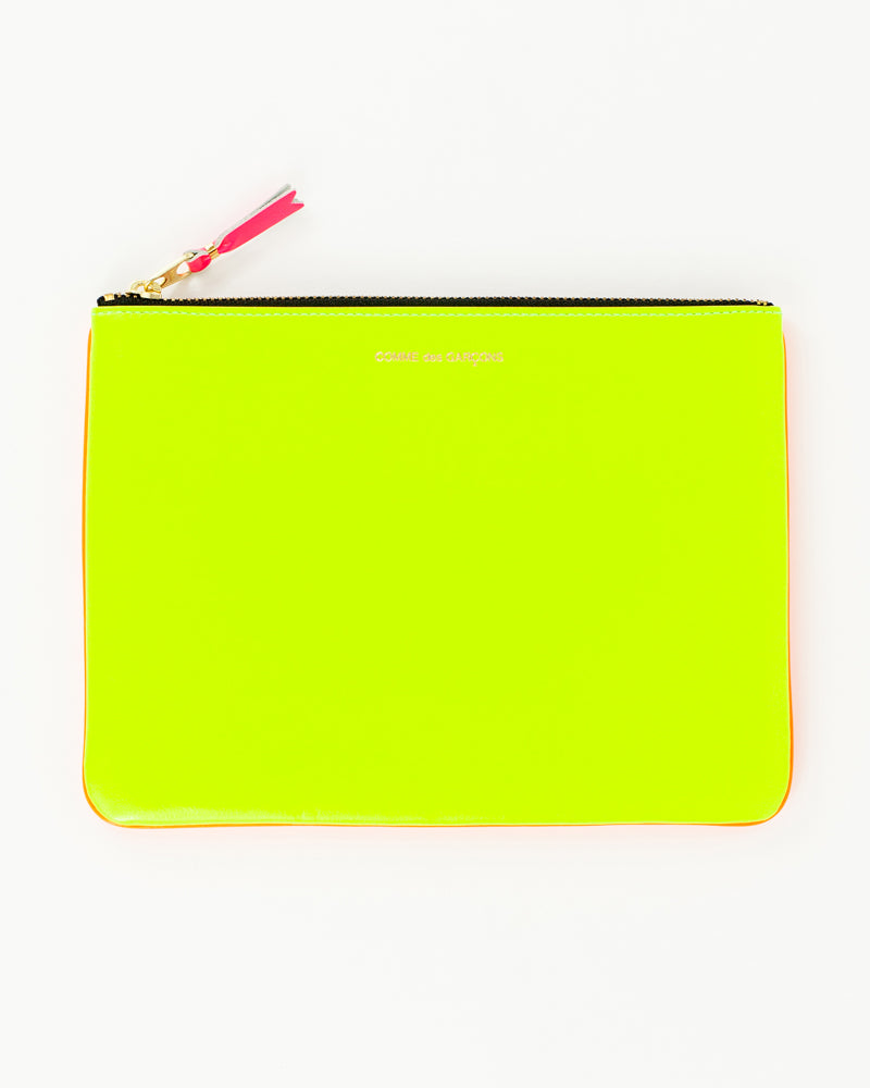 Super Fluo Large Zip Pouch - Yellow/Orange - [product _vendor]