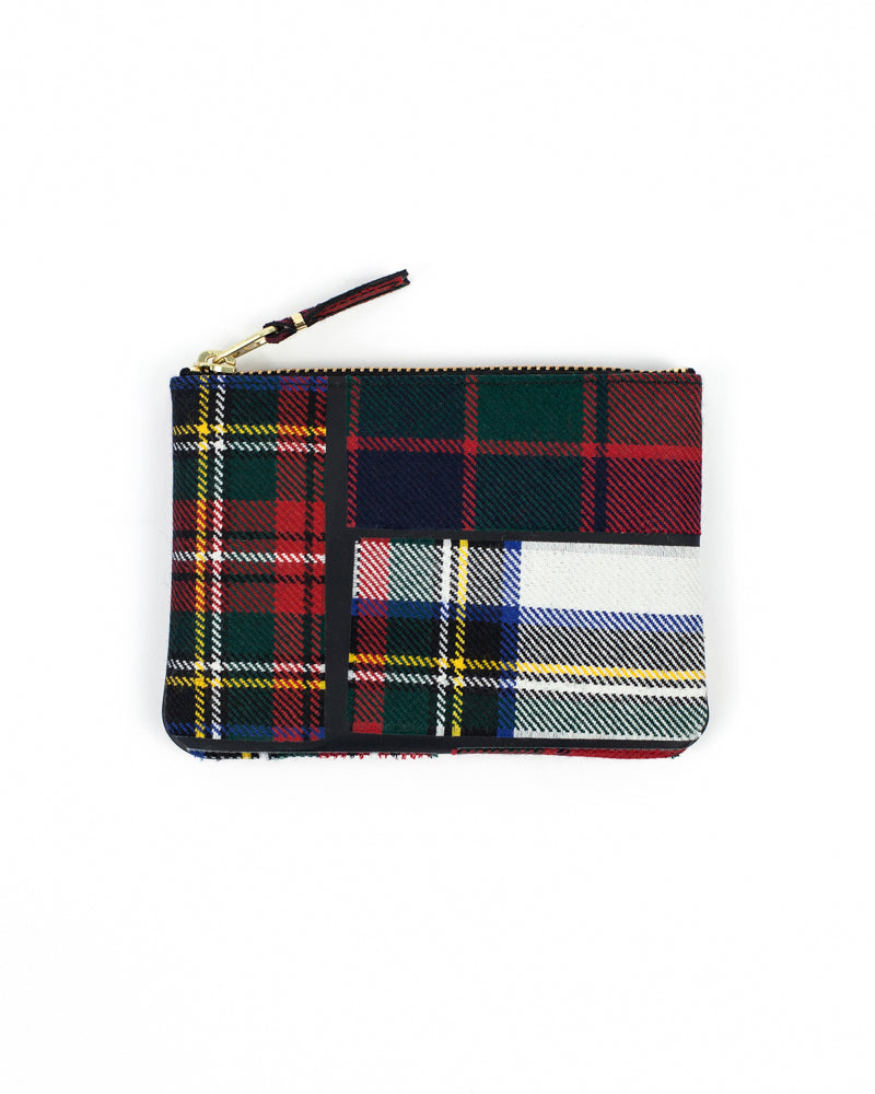 Tartan Patchwork Zip Pouch - Red - Maiden Noir