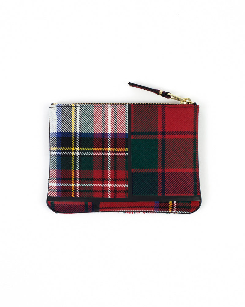 Tartan Patchwork Zip Pouch - Red - [product _vendor]