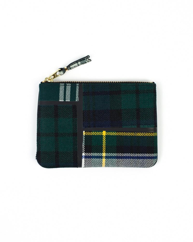 Tartan Patchwork Zip Pouch - Green - [product _vendor]