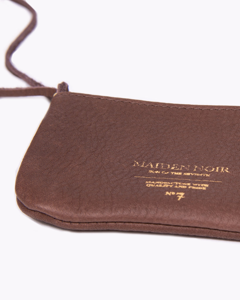 Leather Coin Purse - Dark Brown