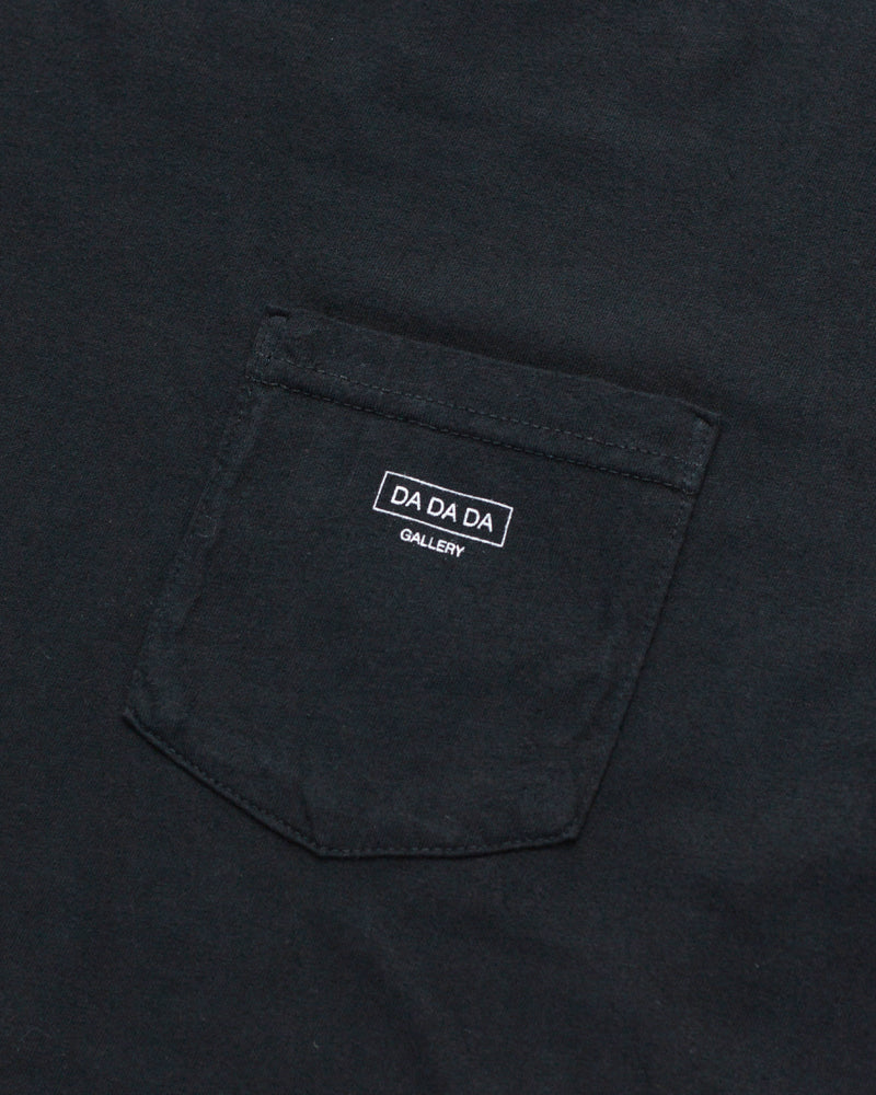 Logo Pocket Tee - Black - Maiden Noir