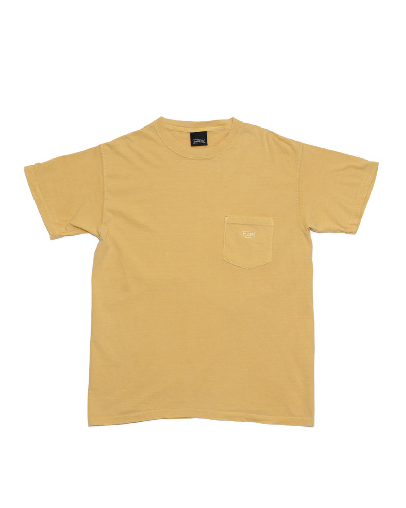 Logo Pocket Tee - Mustard - [product _vendor]