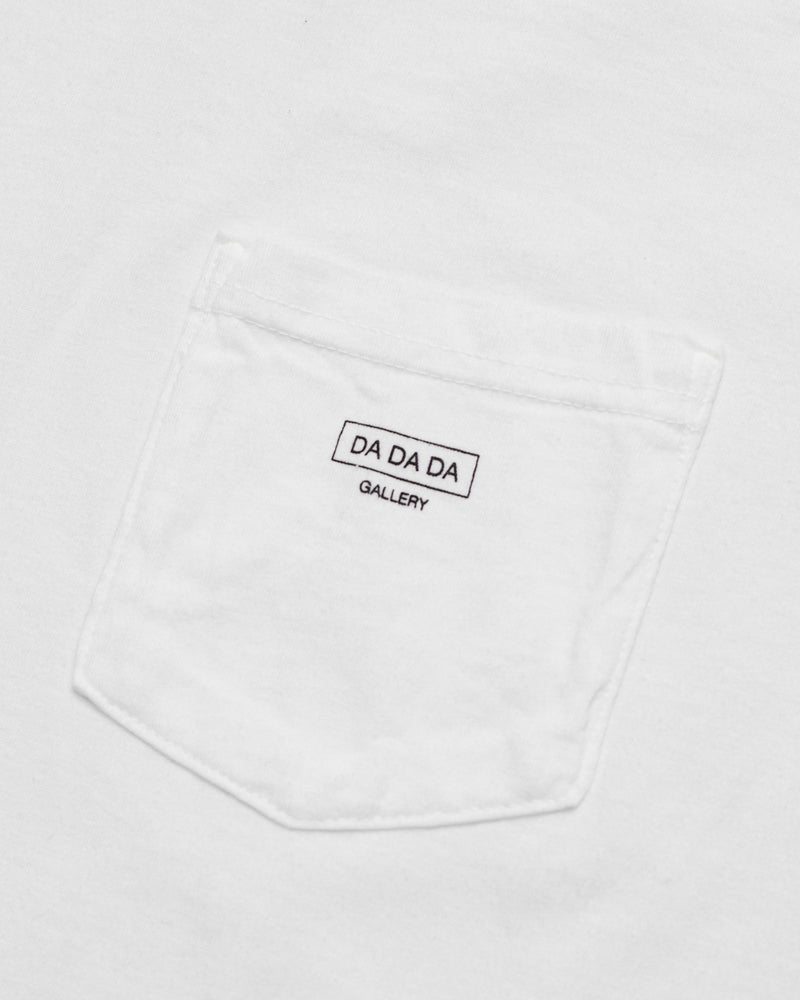 Logo Pocket Tee - White - Maiden Noir
