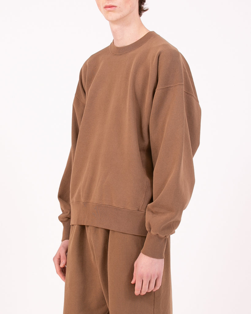 Natural Dyed Crew Fleece - Bark