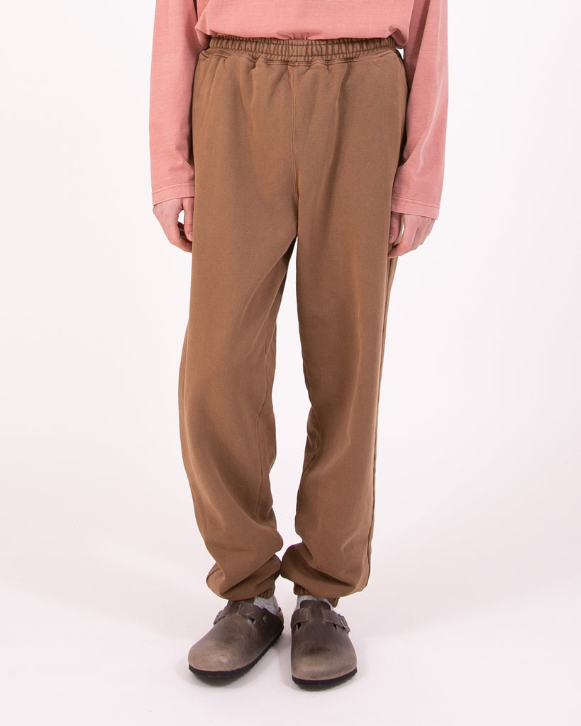 Natural Dyed Fleece Trouser - Bark