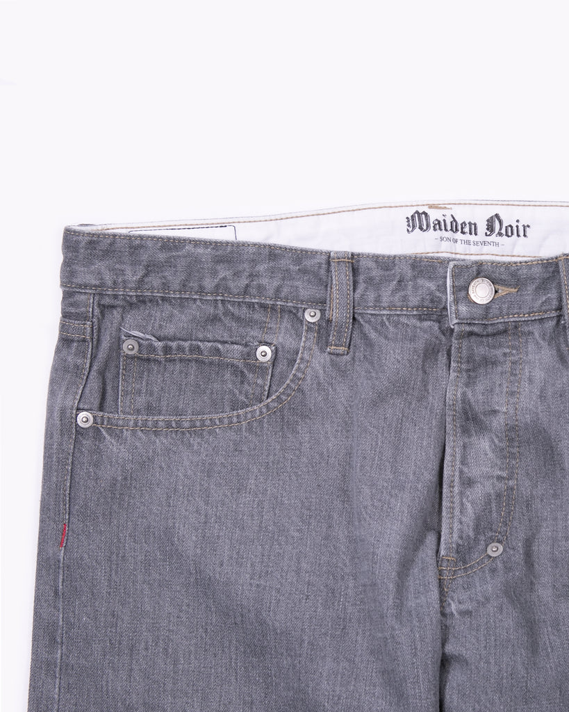 Slim Straight Washed Denim - Grey