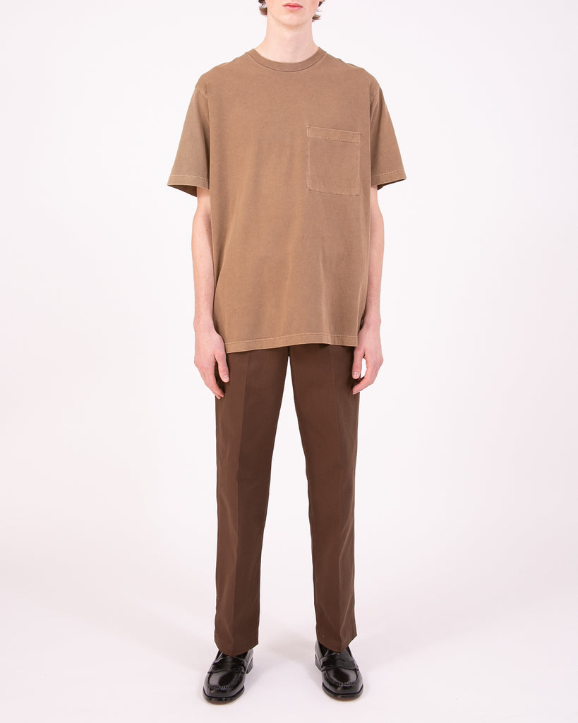 Natural Dyed Block S/S Jersey - Bark