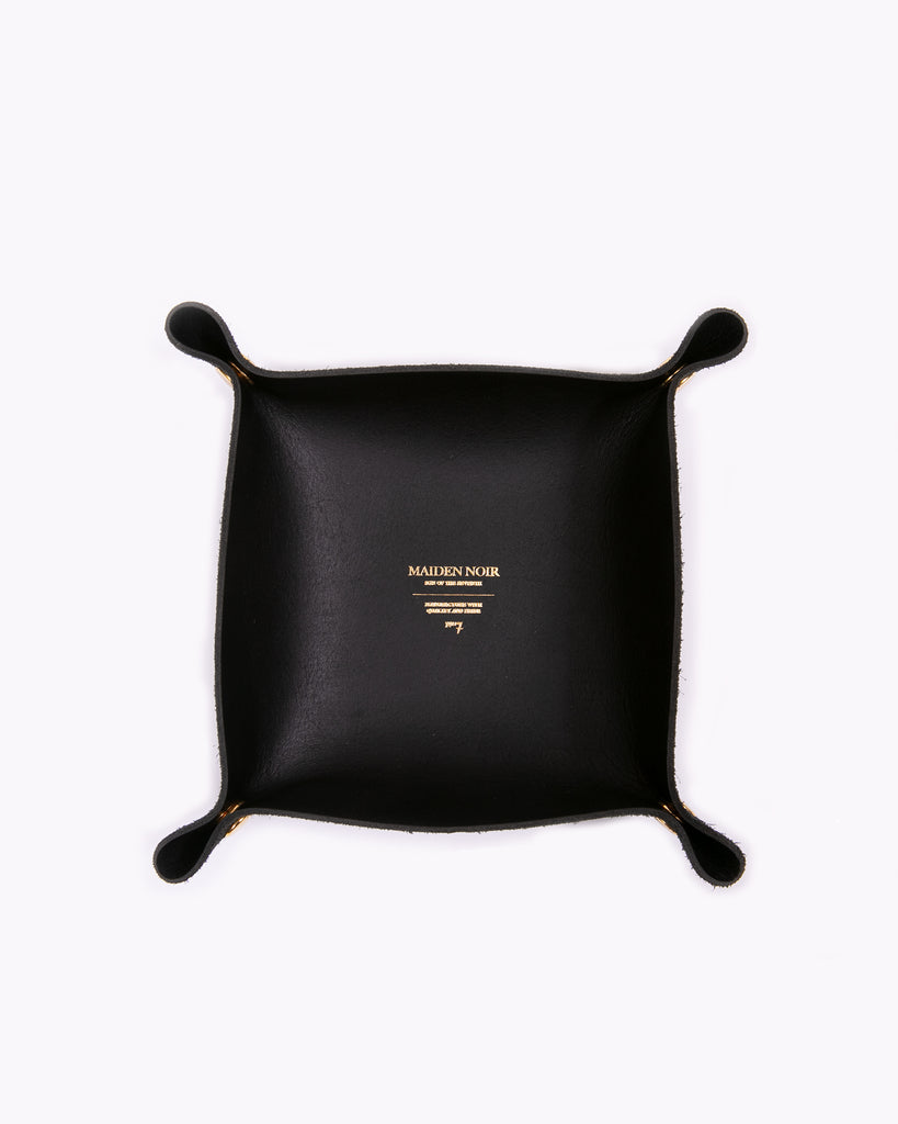 Leather Coin Tray - Black