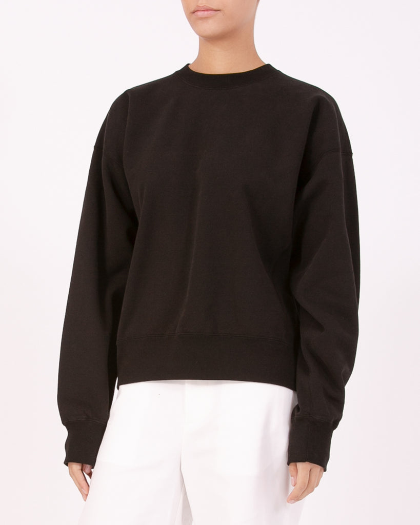 Natural Dyed Crew Fleece - Black W