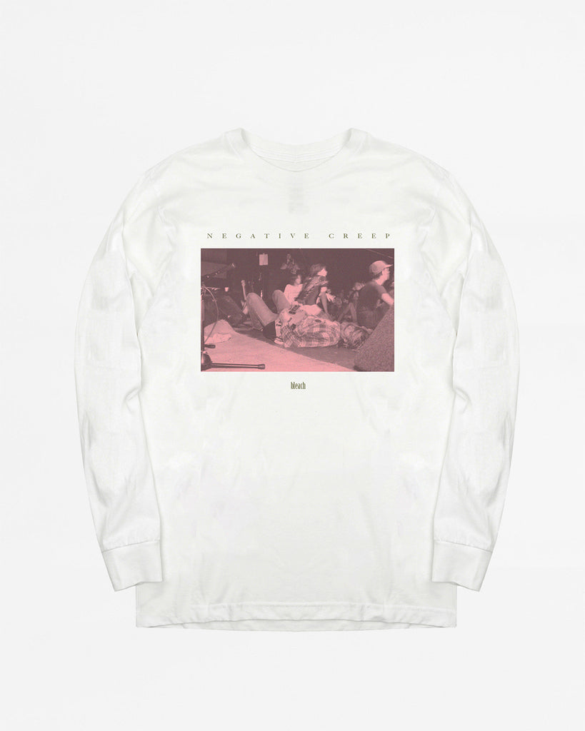 Negative Creep LS Tee - White