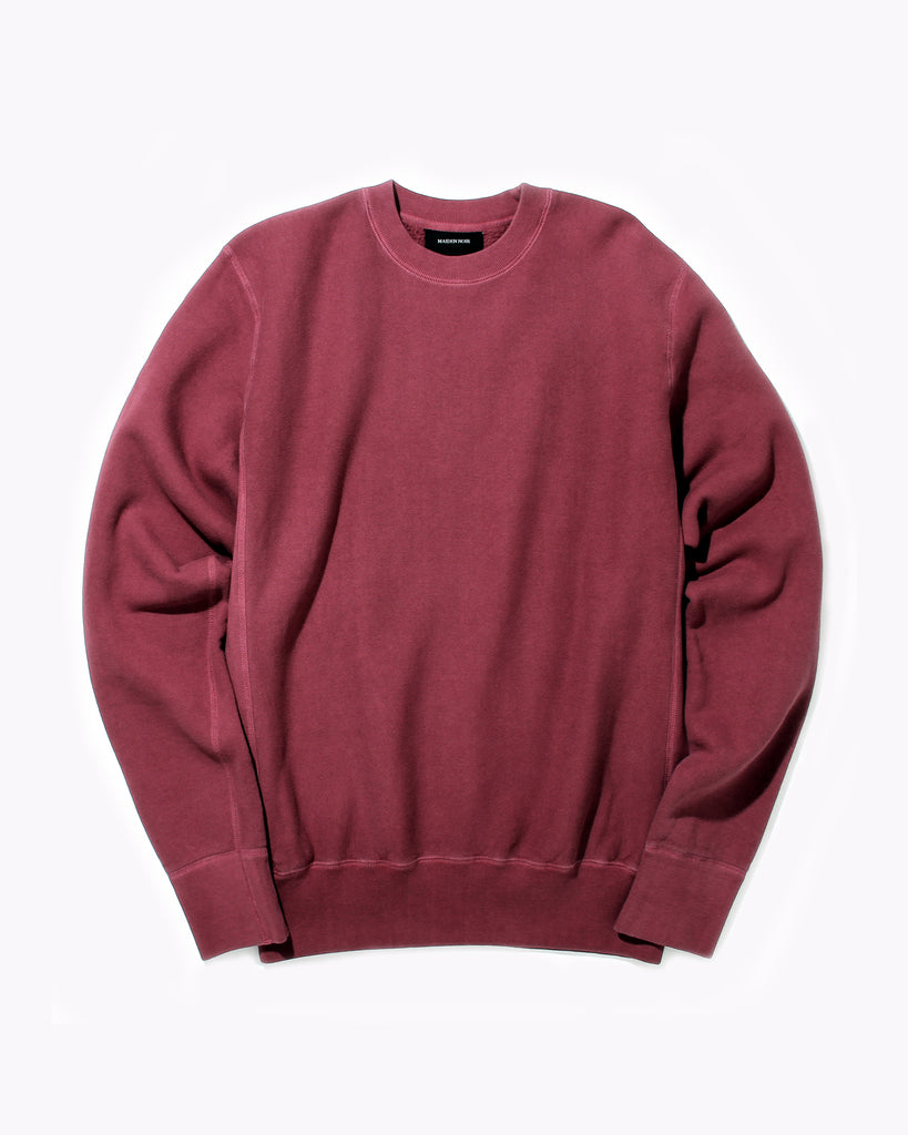 Natural Dyed Crew Fleece - Berry