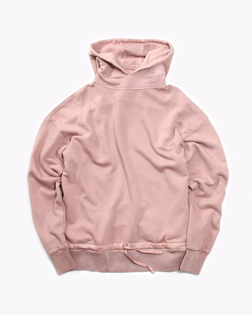 Overdyed Hoodie Fleece - Coral - [product _vendor]