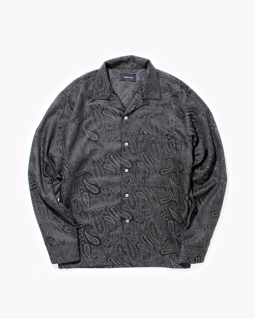 Paisley LS  Shirt - Black