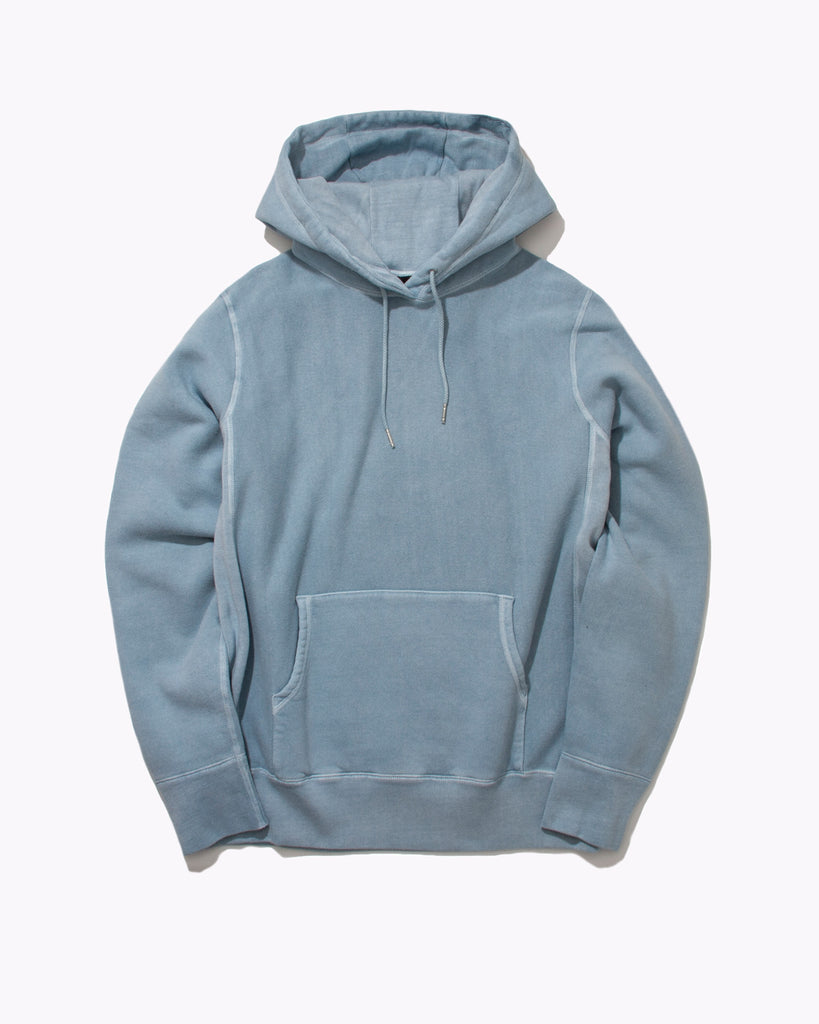 Natural Dyed Hoodie Fleece - Dusty Teal - Maiden Noir
