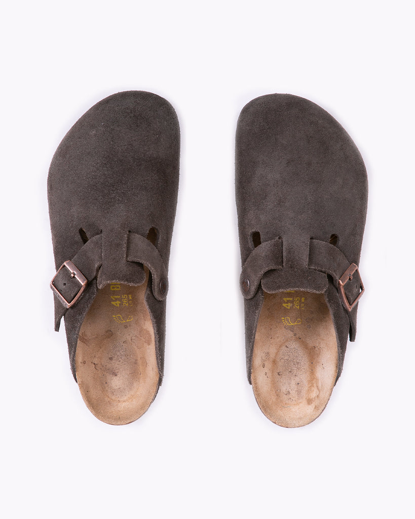 Birkenstock Boston Clog - Brown Suede