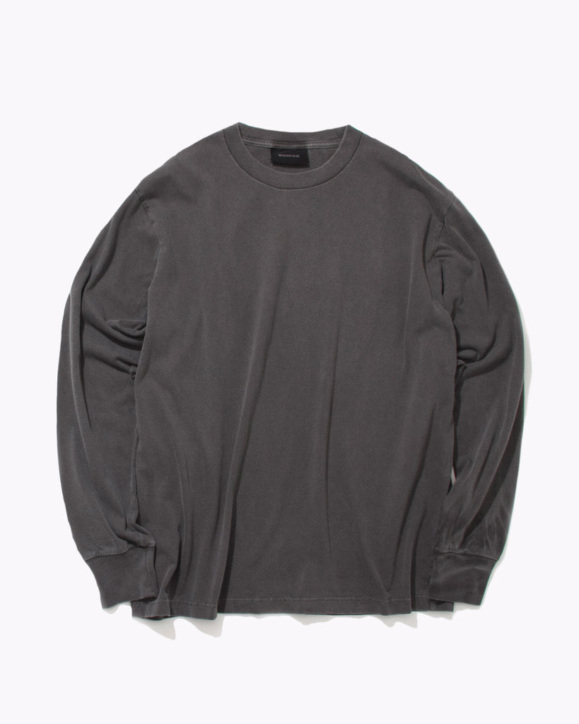 Natural Dyed Block L/S Jersey - Charcoal - [product _vendor]