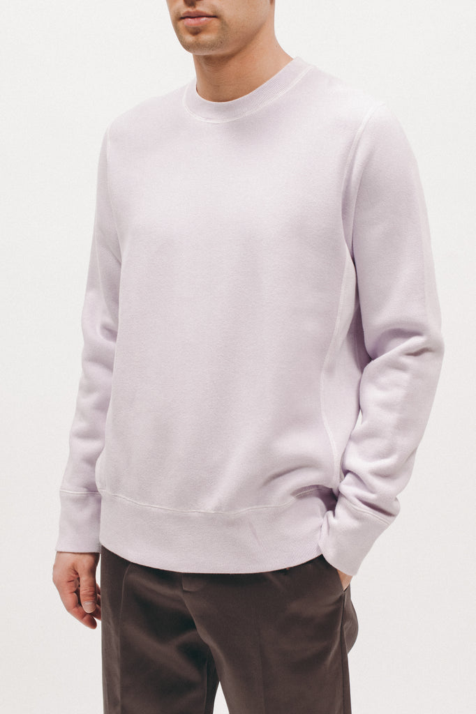 Natural Dyed Crew Fleece - Lavender - Maiden Noir