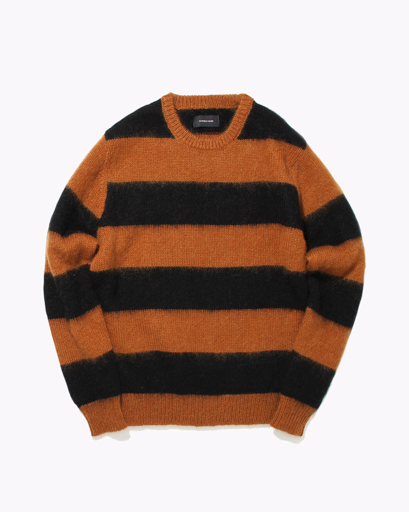 Mohair Knit Sweater - Brown