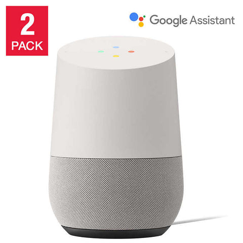 Google Home Smart Speaker Powered by Google Assistant, 2-pack