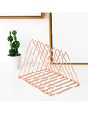 Triangle Rose Gold Wrought Iron Book Stand