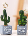 Sticky Note Cactus Ornaments