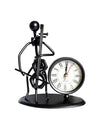 Metal Iron Man Clock Cello Decoration