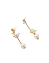 Asymmetric Alloy Flower Earrings