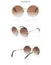 Flower-shape Gradient Trimmed Sunglasses