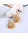 Hollow Out Flower Earrings