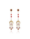 Tassel Long Drop Moon Earrings
