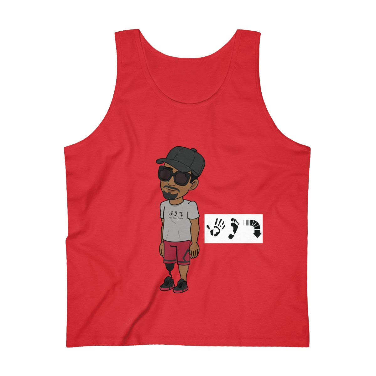 Five Toes Down Henry Ultra Cotton Tank Top