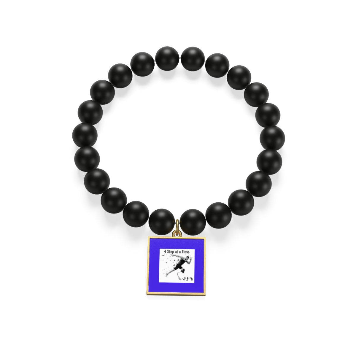 Five Toes Down 1 Step Matte Onyx Bracelet