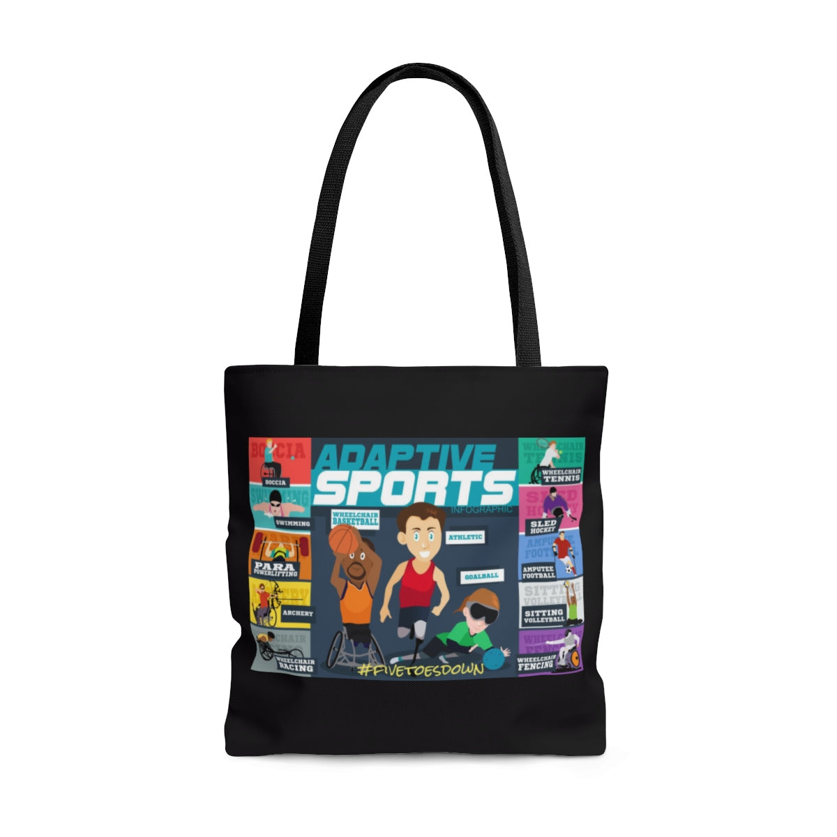 Five Toes Down Amp Sports Tote Bag