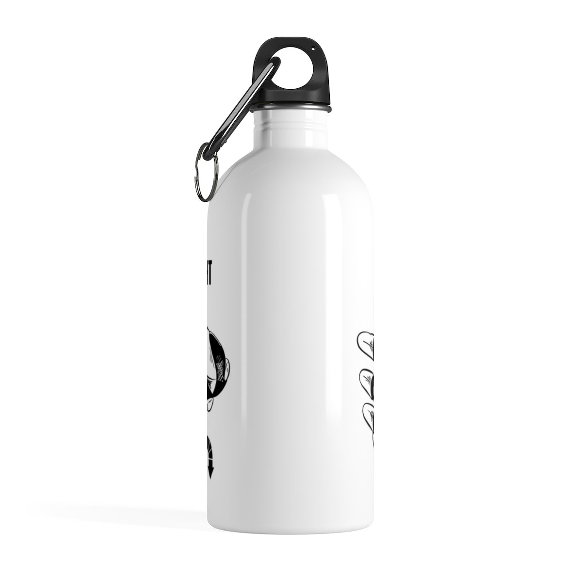 Five Toes Down Grab Life Stainless Steel Water Bottle