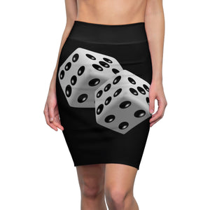 Five Toes Down Dice Women's Pencil Skirt