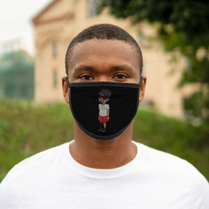 Five Toes Down Henry the Amputee Mixed-Fabric Face Mask Blk