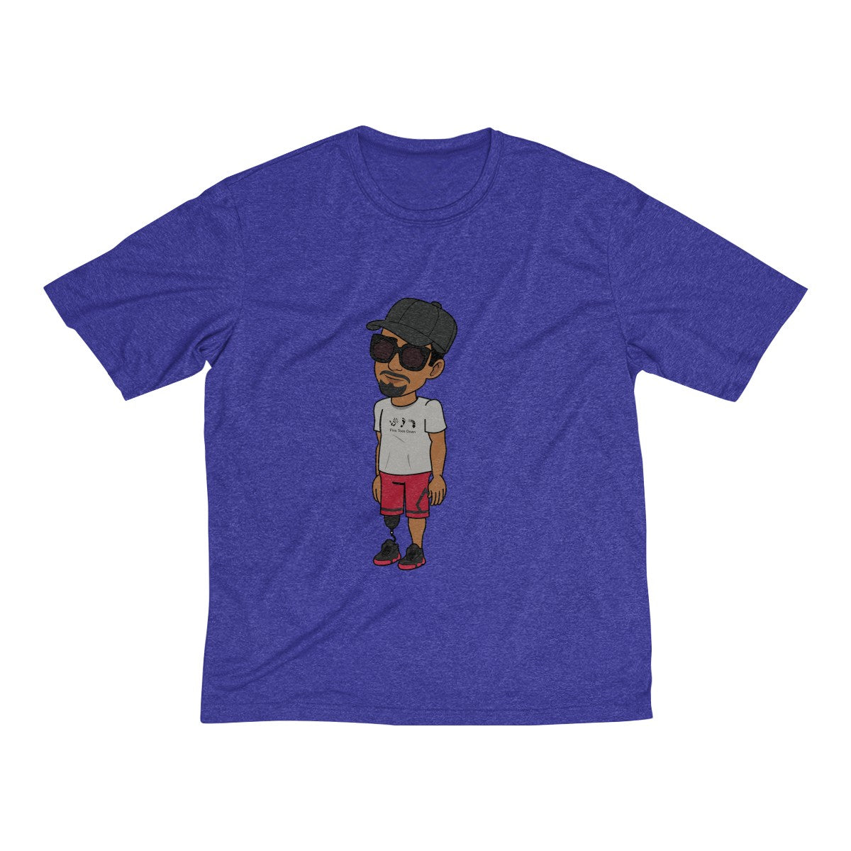 Five Toes Down Henry Dri-Fit Tee