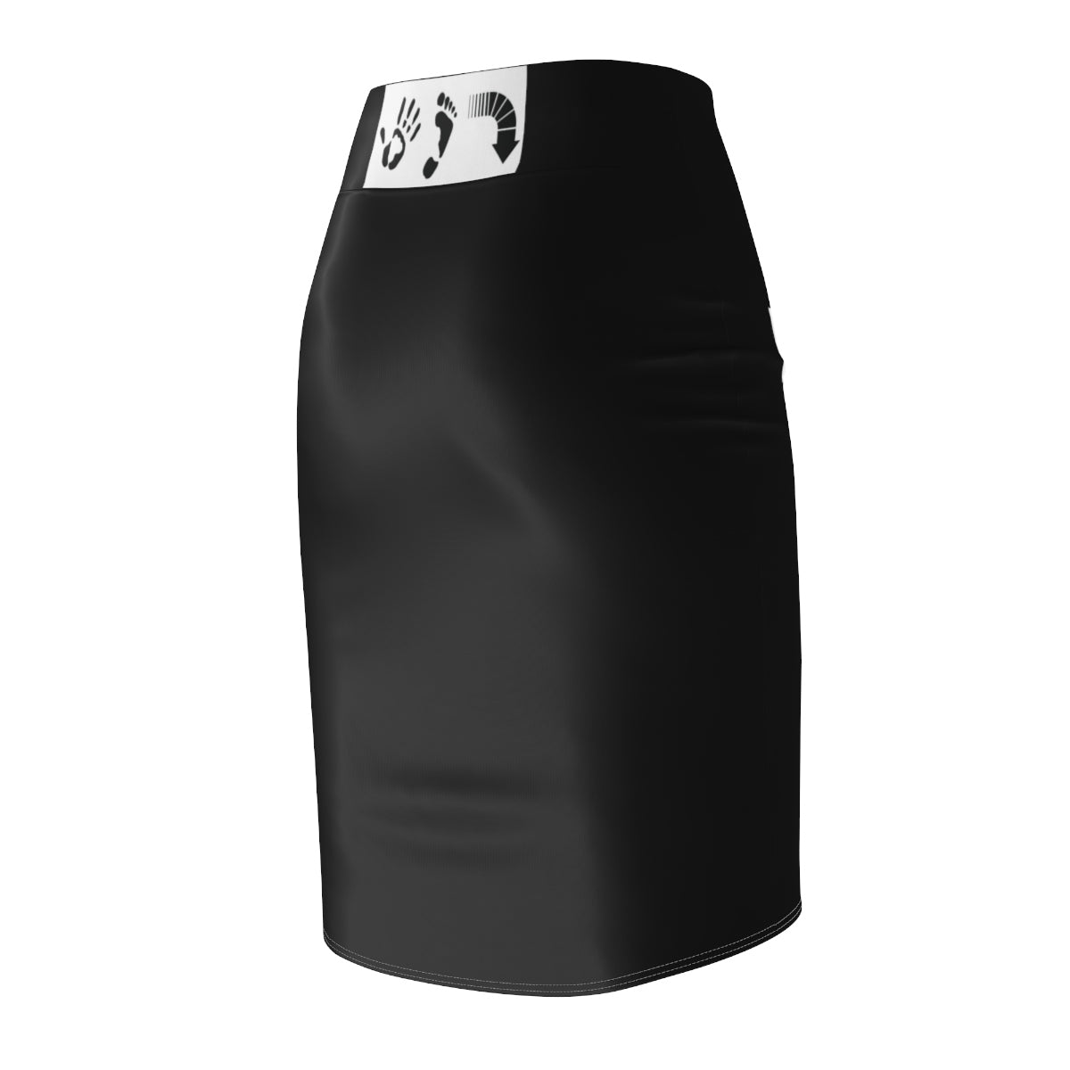 Five Toes Down Polka Dot Blk Women's Pencil Skirt
