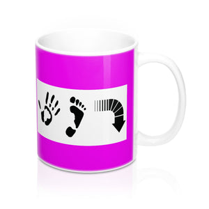 Five Toes Down Shake Mugs