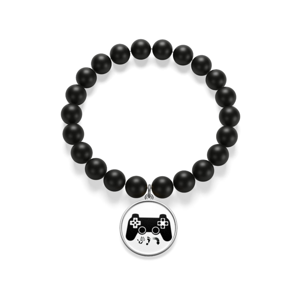 Five Toes Down Gamer Matte Onyx Bracelet