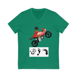 Five Toes Down Lady Rider Unisex V-Neck Tee