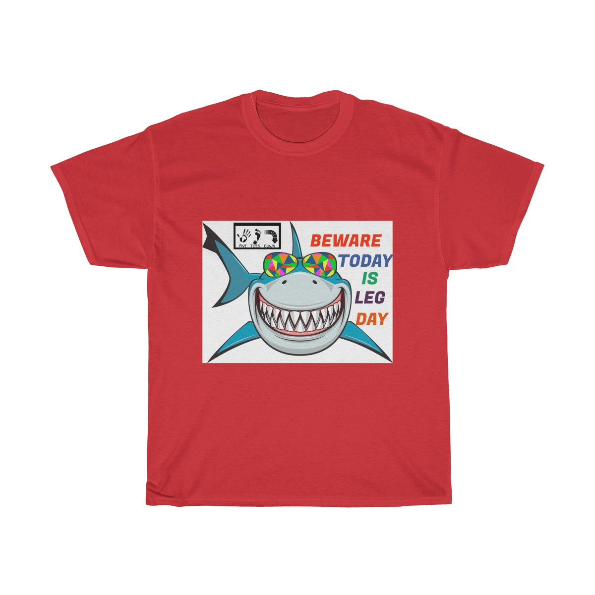 Five Toes Down Shark Attack Unisex Tee