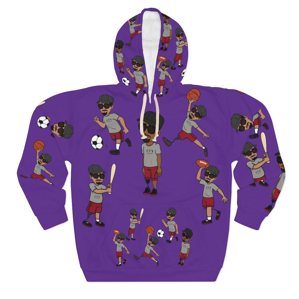 Five Toes Down Sports Unisex Pullover Hoodie purp