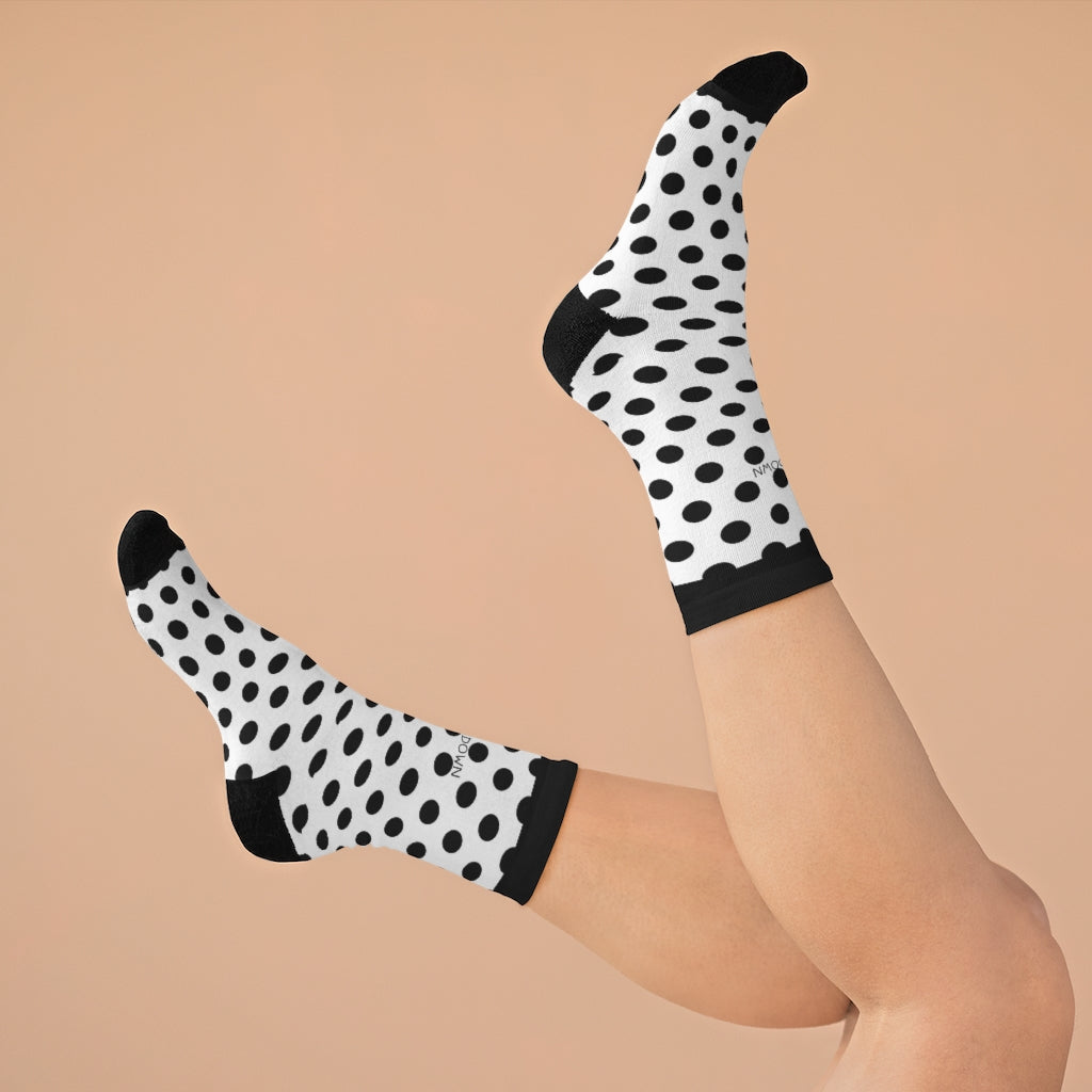Five Toes Down Polka Dot Socks