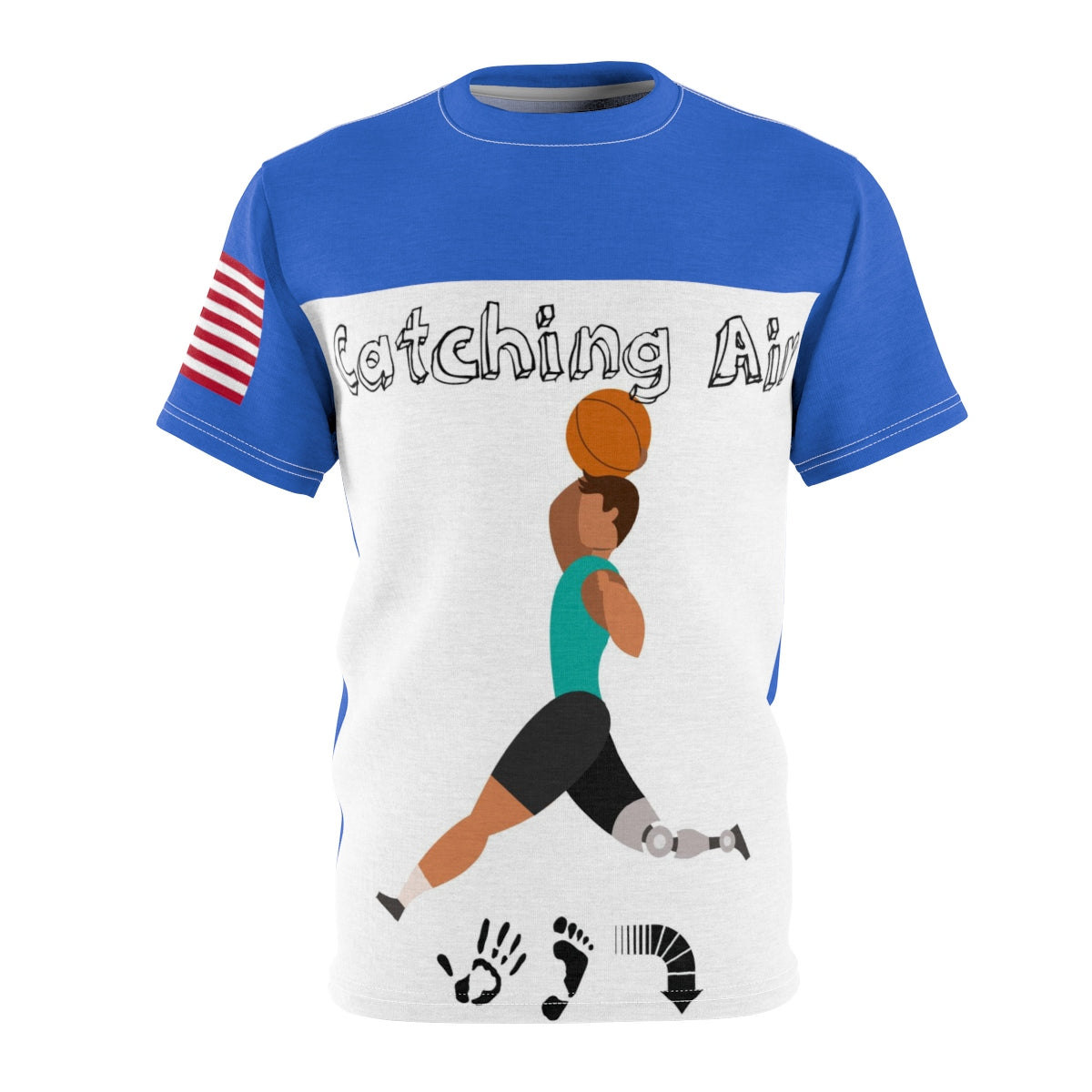 Five Toes Down Catching Air Unisex Cut & Sew Tee